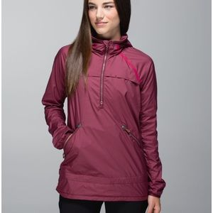 Lululemon Miss Misty Pullover - rust berry - 8
